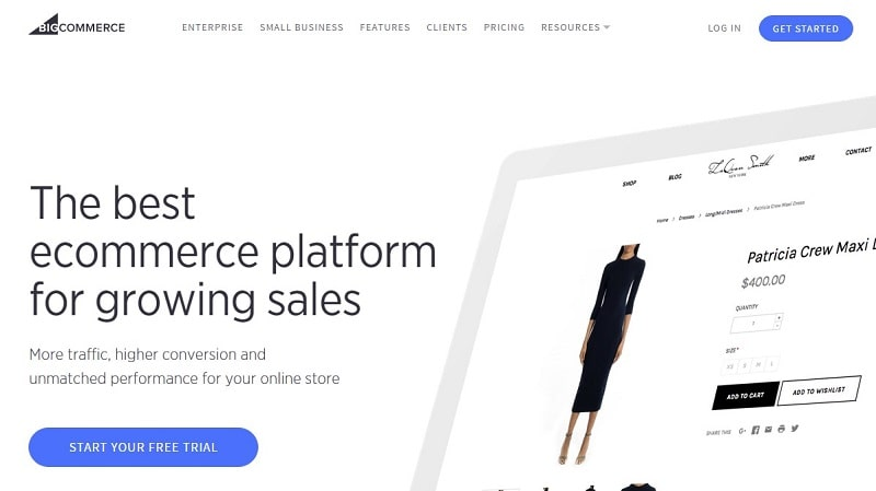 BigCommerce is an in-box eCommerce solution