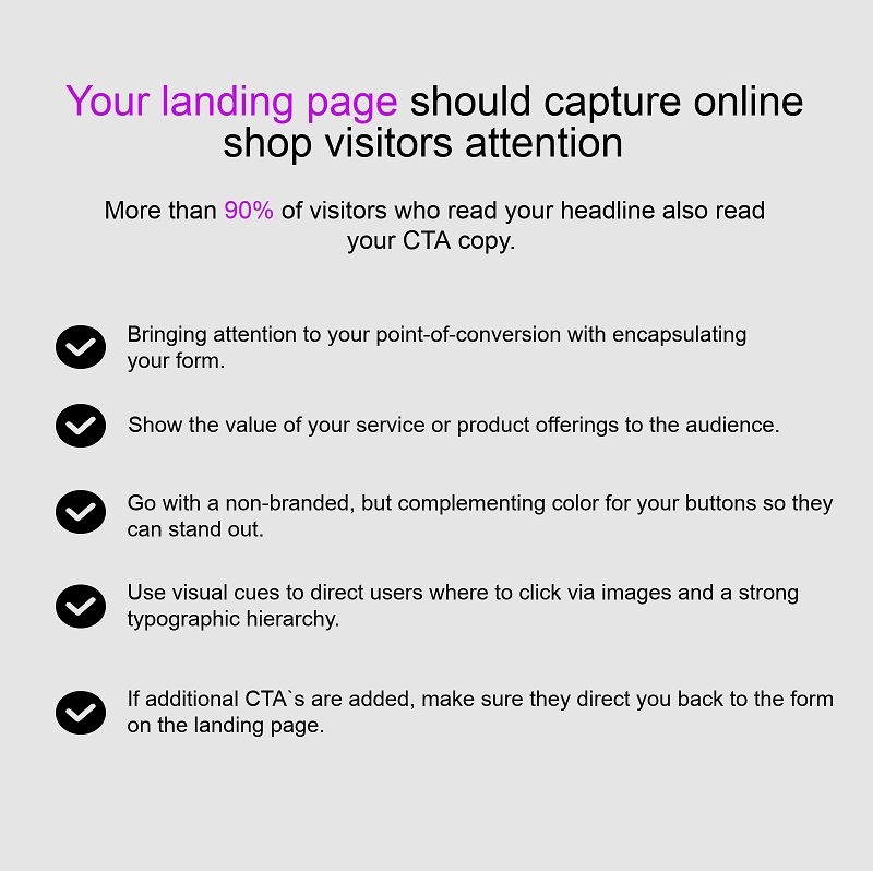 These are the most popular landing pages a first-time visitor sees when they enter online shops