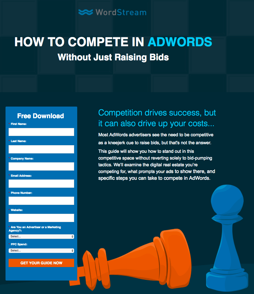 WordStream Top 5 eCommerce landing pages