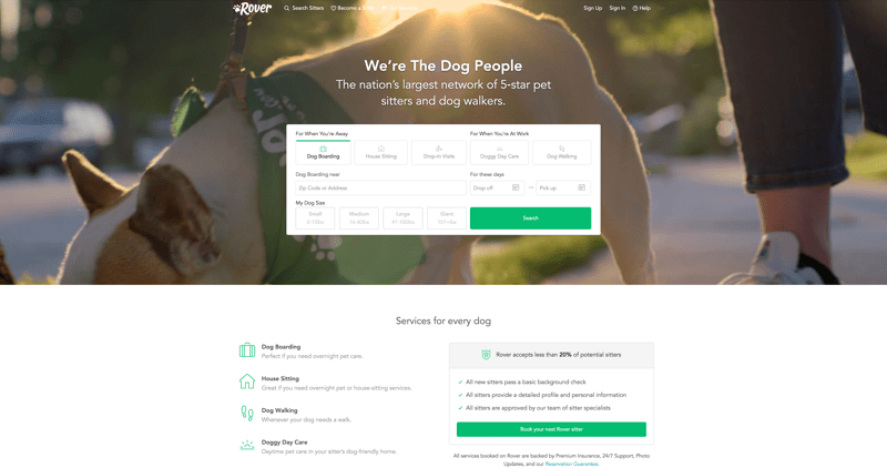 Rover.com This two-sided marketplace was developed for pet owners