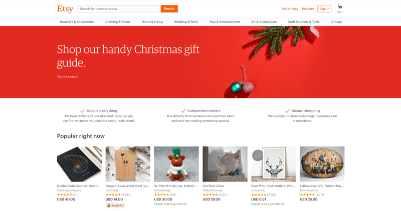 Etsy One of the greatest examples of the business model,
