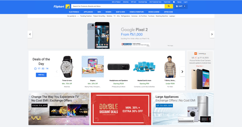 Flipkart India's biggest online store for electronics, clothing, sporting goods