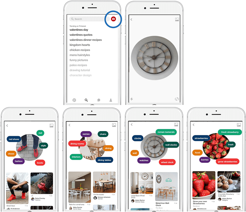 Pinterest launched its Pinterest lens
