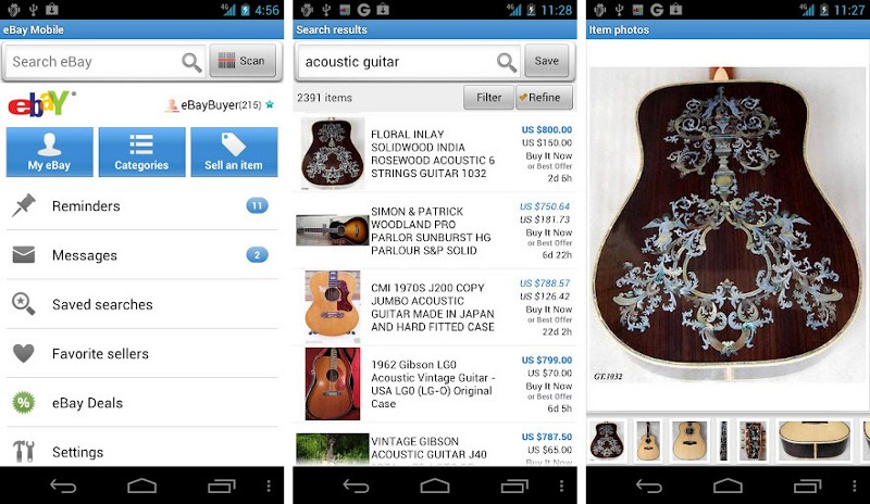 eBay is another leader in the two-sided marketplace spherealso provides customers with useful ecommerce mobile app features