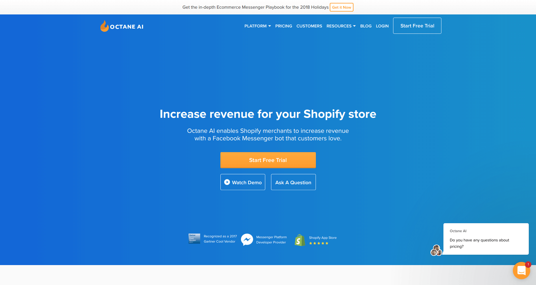 OctaneAI  Если ваш онлайн магазин создан на платформе Shopify, то это – ваш идеальный выбор.