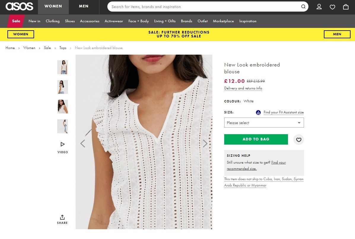 how to create your own online clothing store Image zoom allows shoppers to see the product in details.
