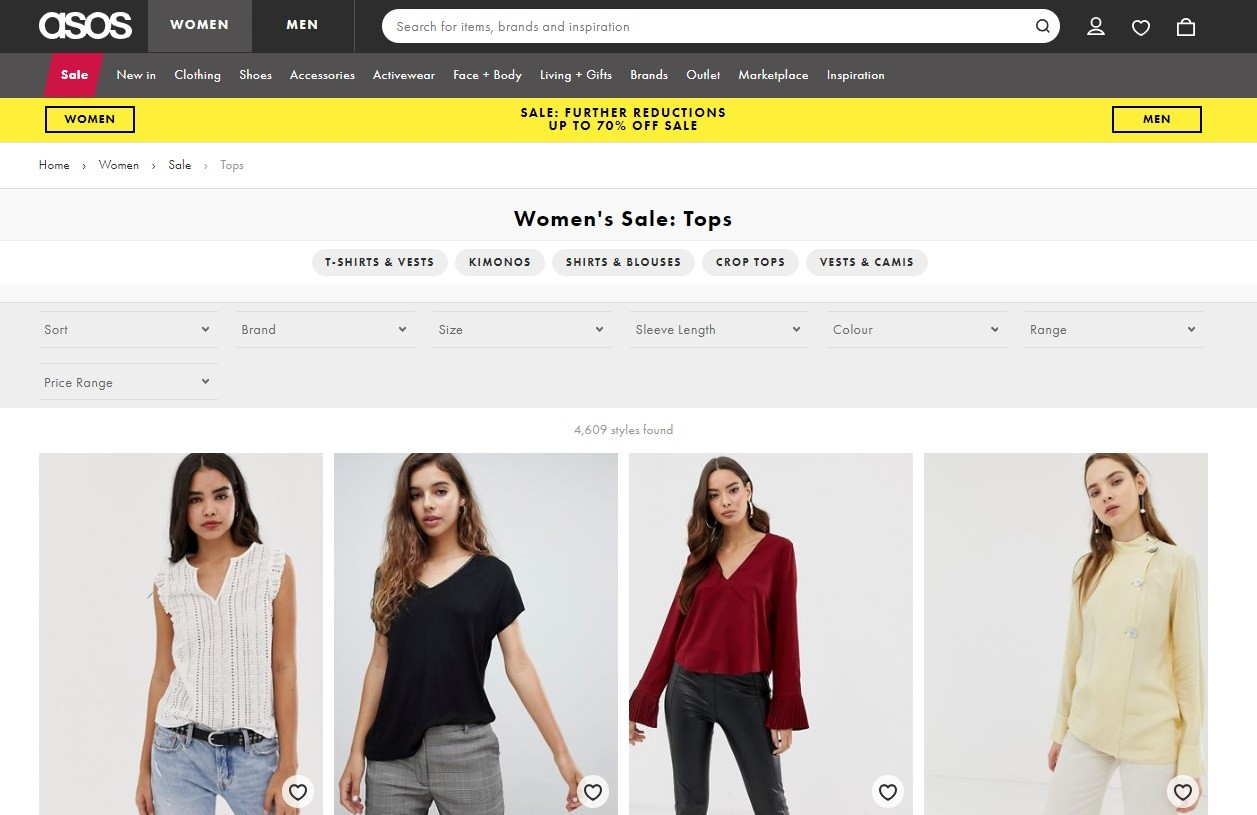 how to start an ecommerce clothing store Here, website visitors can narrow their search and set the size, color, brand, and even the price filters to find the exact product they want.