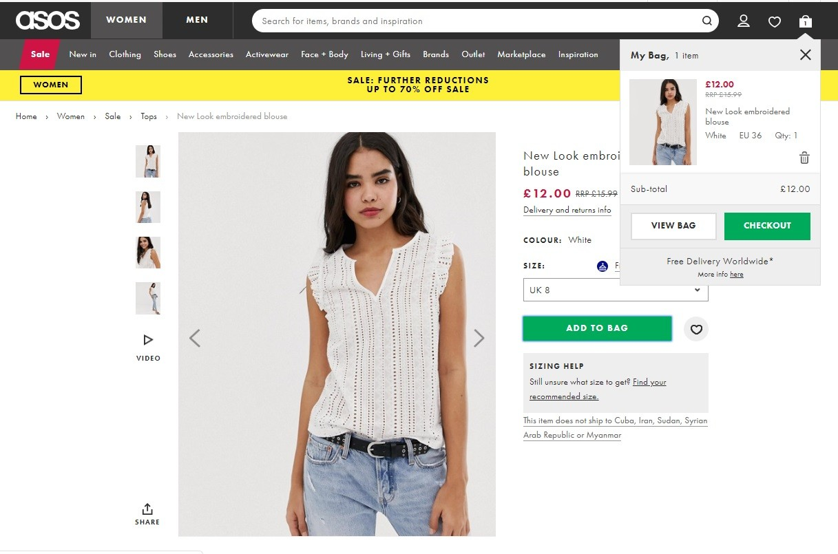 how to create your own online clothing store The product page has many features to help the shopper to make the purchase useful.
