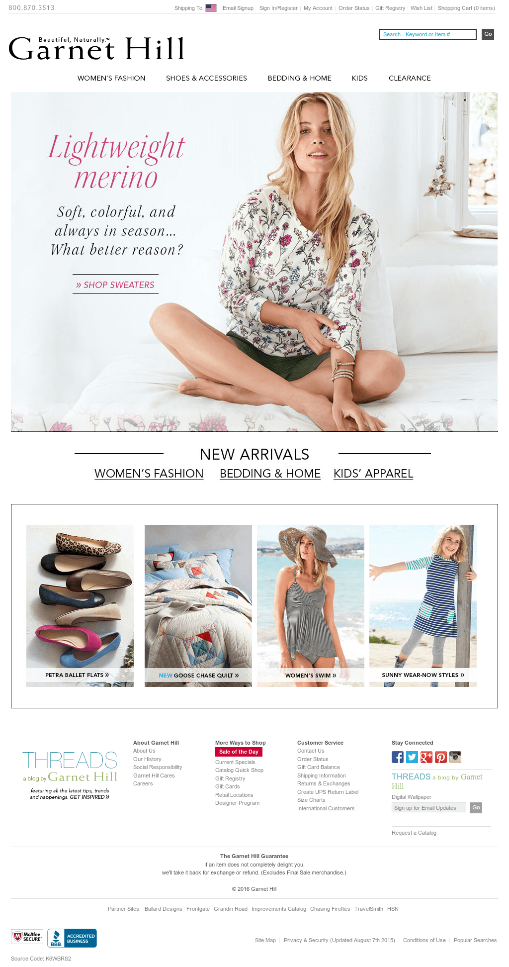 how to make a clothing website - Garnet Hill, a specialty apparel and home decor retailer, is also a great example of multichannel success