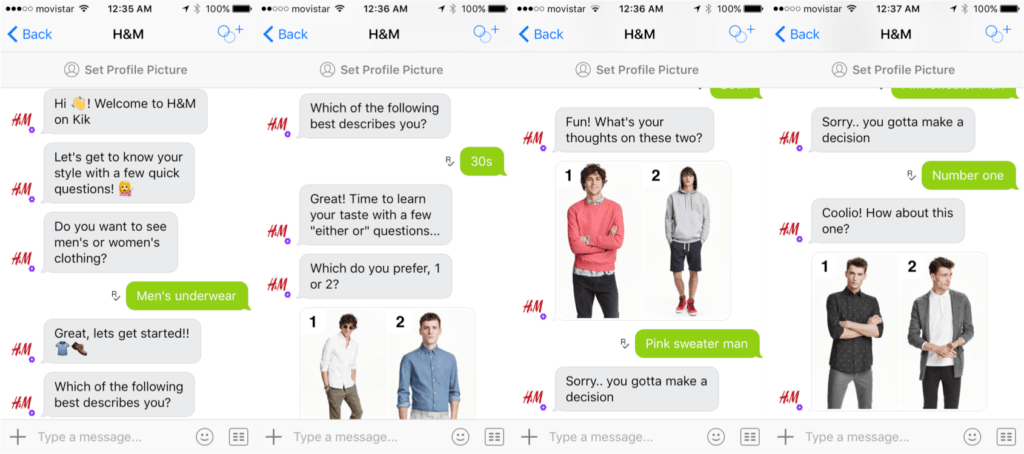 how to open an online clothing store - Kik messaging app, developed by H&M clothing retailer, allows online shoppers to see, share and purchase products from H&M's catalog