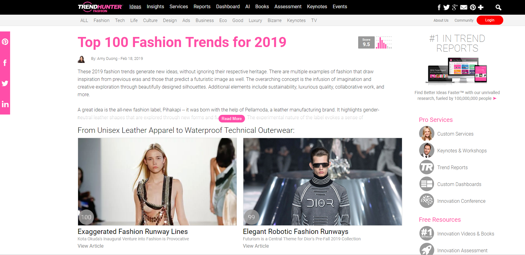 how to start an online boutique - When deciding on the clothing store niche, we recommend using the Trend Hunter website.