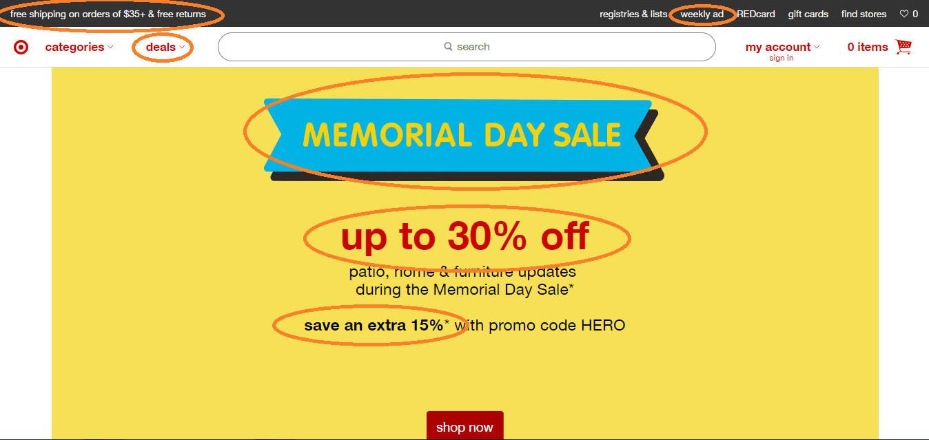 Target.com: Urgency results in more sales
