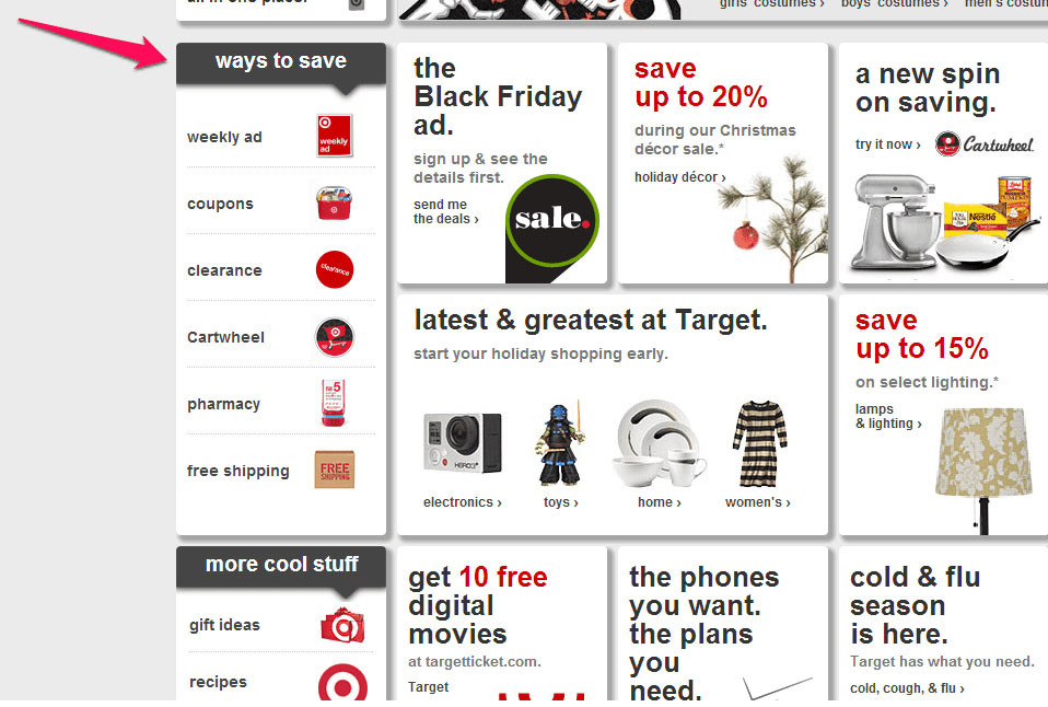 If your online shop marketing strategy includes multiple discount options, you can create a menu for them