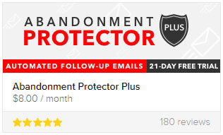 Abandonment Protector is extremely useful for dropshipping businesses