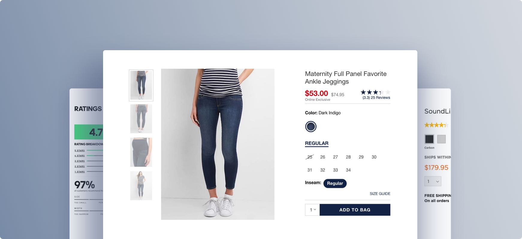 product page UX design
