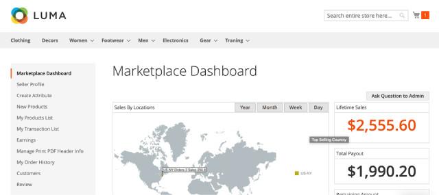 панель инструментов luma marketplace