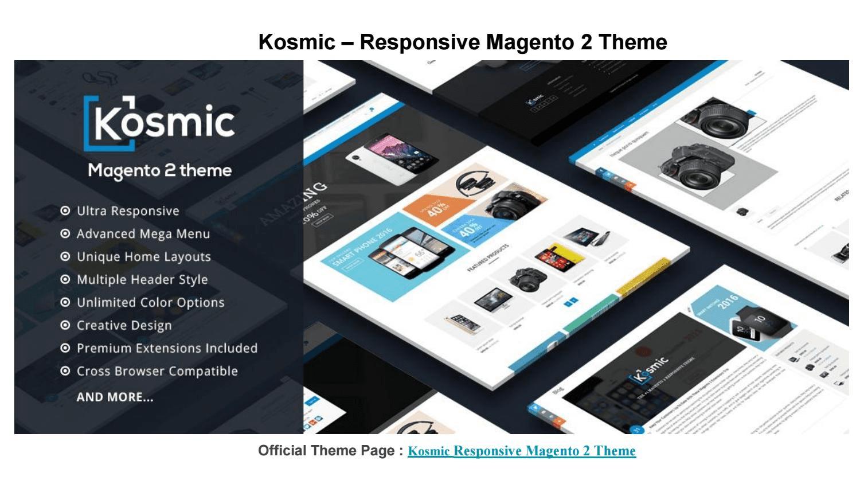 Fashion responsive Magento theme: Kosmic