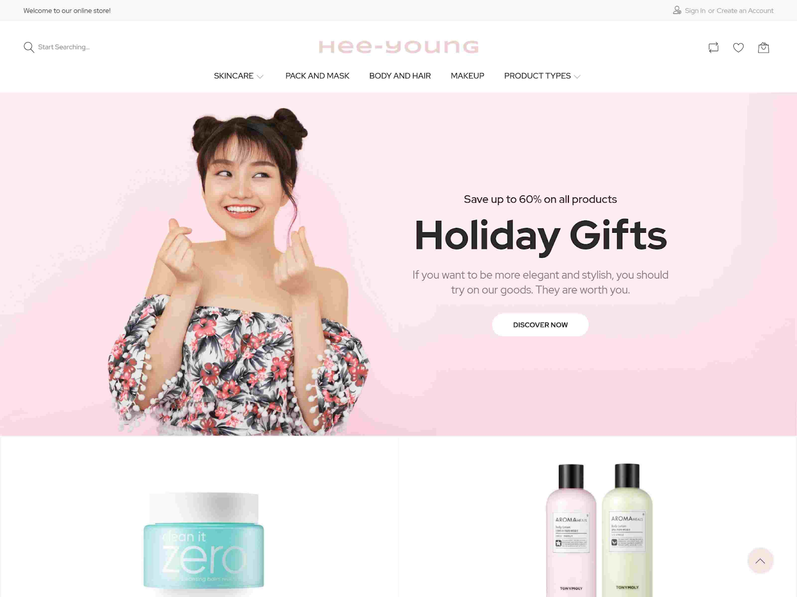 Hee-Young Korean Beauty Store Magento Theme